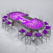 Revit Family-Baccarat Table