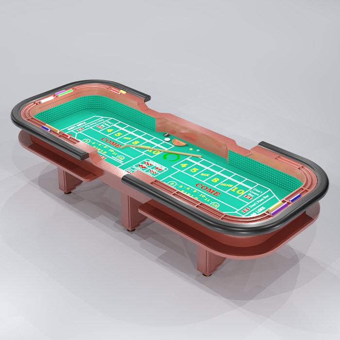 craps table dice
