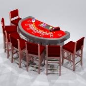 Revit Family-Blackjack Table