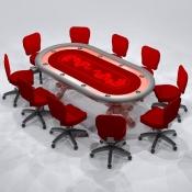 Revit Family-Poker Table-1