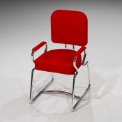 Revit Family-Carrel Chair