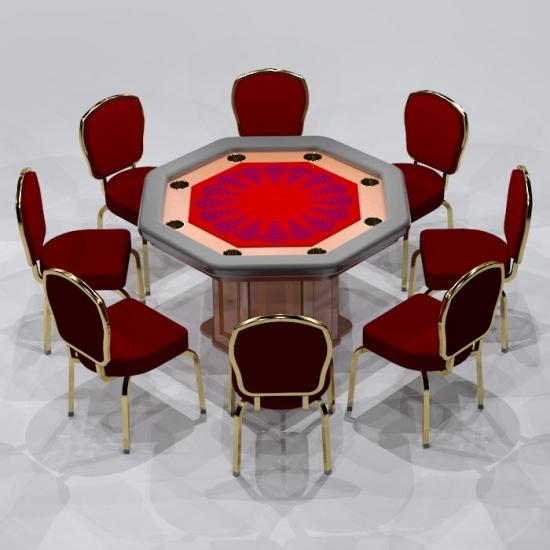 Revit Family-Poker Table-4